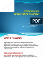 Introduction to Educational Research Pismp Ed Hiha