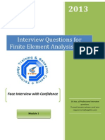FEA Interview Questions Module 1