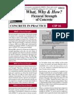 CIP16 - Flexural Strength of Concrete