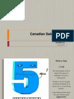 Canadian Sales - 2013
