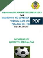 MEMBANGUN KOMPETISI BERKUALITAS