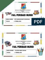 Cover Fail Peribadi Murid t6