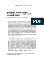 Who speaks broken English US undergraduates' perceptions of non-native English