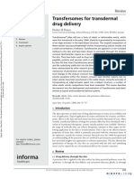 Expert Opinion on Drug Delivery Volume 3 Issue 6 2006 [Doi 10.1517%2F17425247.3.6.727] Benson, Heather AE -- Transfersomes for Transdermal Drug Delivery
