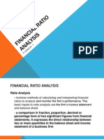 Fin Man 1 FINANCIAL Ratio Analysis