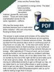 Caffeine, Energy Drinks and the Female Body