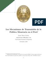 Los mecanismos de transmisión de la polítca monetaria en el Perú