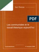 Tom Thomas - Les-communistes-et-le-travail-théorique-aujourdhui