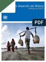 Informe 2013 Objetivos de Desarrollo del Milenio