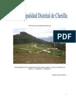 Perfil Mejoramiento de La Carretera Entre Tramo Jamcate - Chetilla Distrito de Chetilla- Cajamarca
