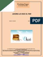 AHORA LO DICE EL FMI (Es) NOW IT´S THE IMF (Es) NDF DA ORAIN (Es)