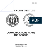 Communications Plans and Orders