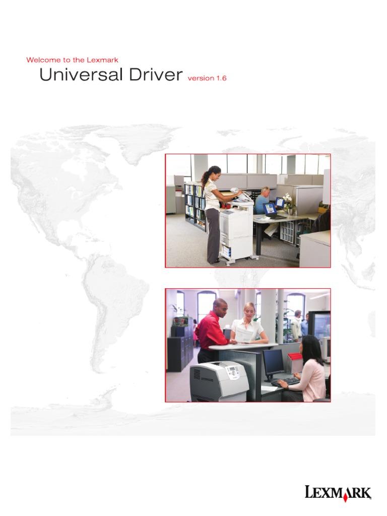 Lexmark Universal Driver v1.6 White Paper | Printer (Computing) | Microsoft  Windows