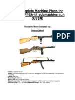 PPSH41 Complete Machine Plan / Blueprints