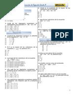 Guia 35. Ecuacion de Segundo Grado II