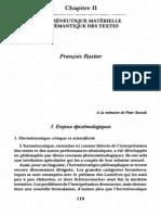 Rastier - Herméneutique matérielle et sémantique des textes