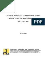 SNI 1726-2002 Standar Perencanaan Ketahanan Gempa Untuk Struktur Bangunan Gedung