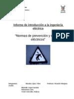Informe Sobre Normas de Seguridad y Riesgos Electricos