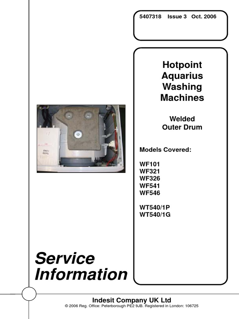 Information Service: Hotpoint Aquarius Washing Machines