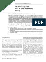 Apego Adulto Inseguro y Procesos Narrativos en Psicoterapia