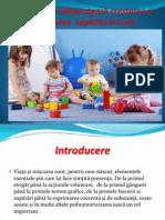 Exerciţii care influienţează cresterea şi dezvoltarea  copilului 0-3 ani