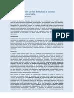 La mundialización de los derechos al acceso alimentario y la anomalía