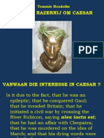 ROUW en RAZERNIJ om CAESAR - Power Point Presentatie