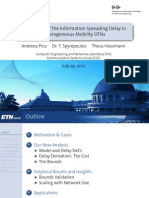 An Analysis of the Information Spreading Delay in Heterogeneous Mobility DTNs