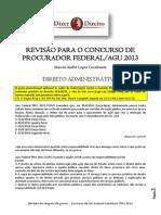 Revisão para o concurso de Procurador Federal-AGU