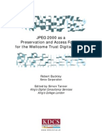 JPEG2000 Recommendations for the Wellcome Trust