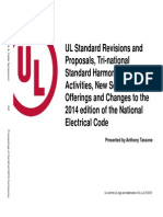 UL Standard Revisions and