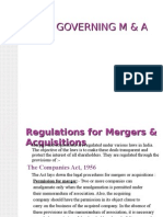 Laws Governing M&A