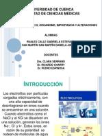 Los Electrolitos en El Organismo, Importancia y Alteraciones