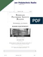 1922-Rensselaer Polytechnic Radio