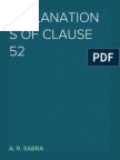 Explanations of Clause 52