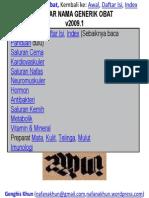 Daftar Nama Generik Obat v2009.1