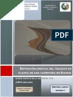 Definición gráfica del trazado en planta de una carretera en Xixona