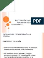 PATOLOGÍA VASCULAR PERIFÉRICA AGUDA