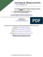 Articol Psychological Mesurements