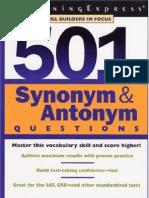 501 Synonyms,Antonyms