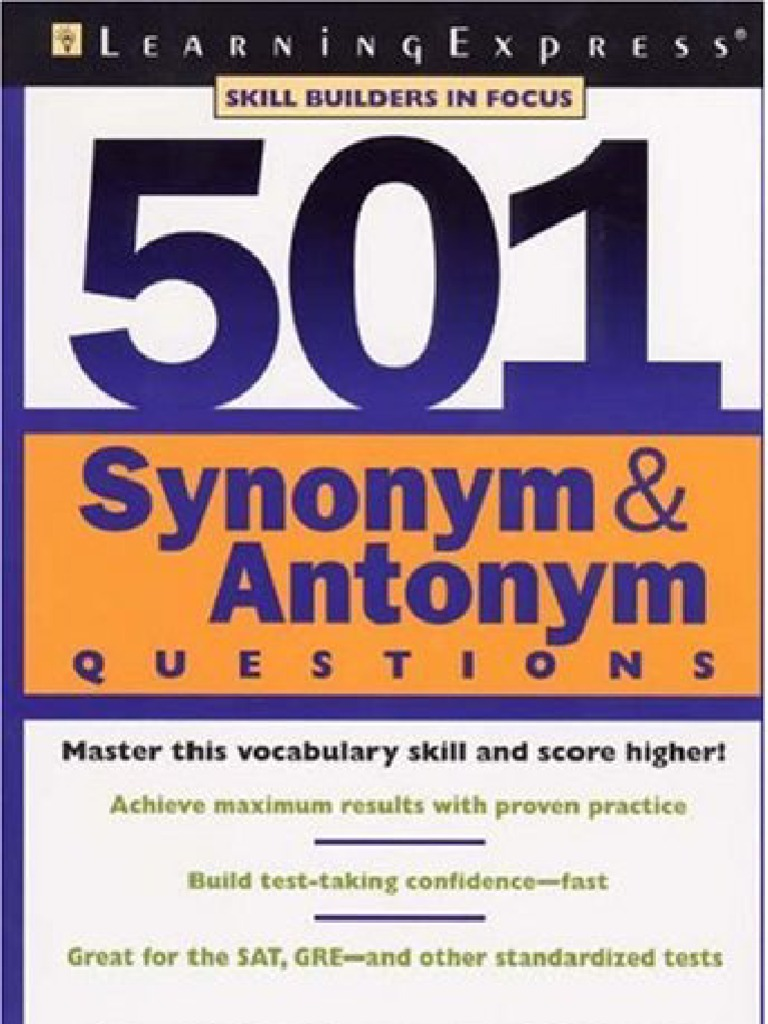 Worksheet Bent Synonym 501 synonymsantonyms test assessment graduate record examinations