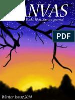 Canvas Teen Literary Journal, Winter 2014