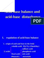 Acid-base Banlance and Acid-base Disturbance