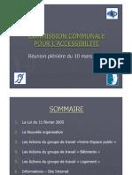Commission Communale Accessibilite CAEN 2009