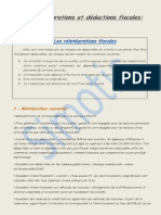 les réintégrations et déductions fiscales (l'is)