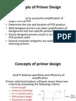 Lecture 33 Primer Design