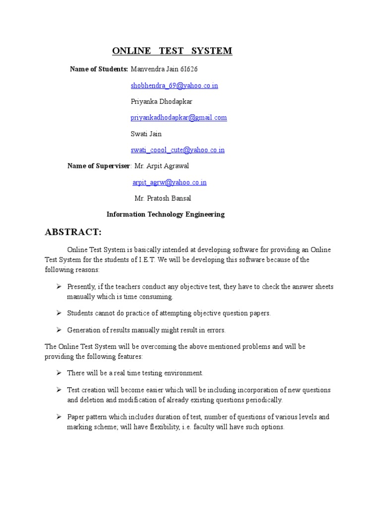 Examination of project documentation 8
