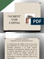 Aumento de capital SILVIA MONTAÑEZ