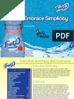 Fruit2O Advertising Class Plan