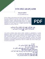 Kur'an Dili Arapça